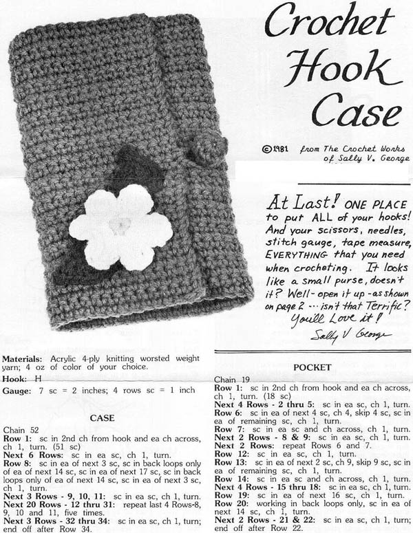 Crochet Hook Case 1 - Sally V. George