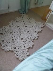 8Petal Flower rug - shropshirescrappersuz