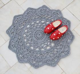 doily rug - creativejewishmom