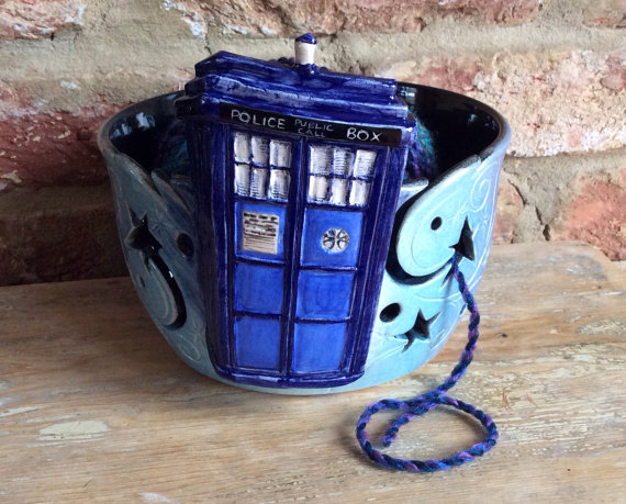 EarthWoolFire Tardis Yarn Bowl