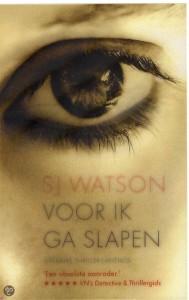 Voor ik ga slapen - S.J. Watson