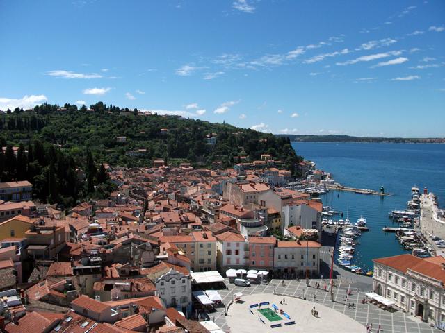 Uitzicht over Piran