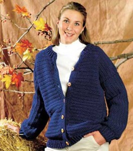 Cardigan with wooden buttons