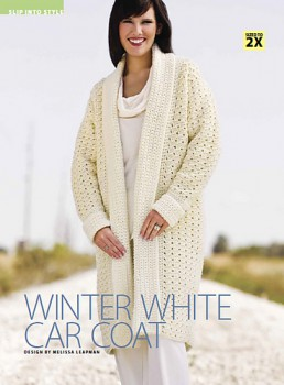 winter white car coat