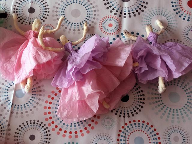 Papieren ballerina's 03